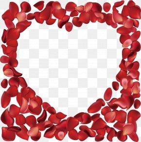 Heart-shaped Rose Petals Rose Vector Sea PNG