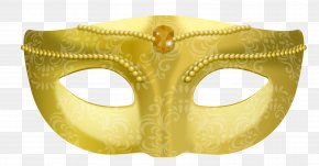 Vector Hand-painted Gold Mask - Gold Euclidean Vector PNG