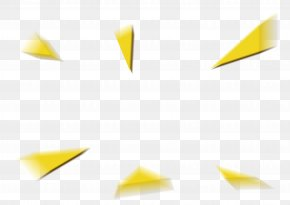 Triangle Floating Material - Angle Material Yellow Wallpaper PNG