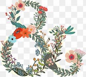 Twig Floral Design - Floral Design PNG