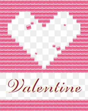 Heart-shaped Vector Games Brick Lei Cheng - Brick Wall Wallpaper PNG