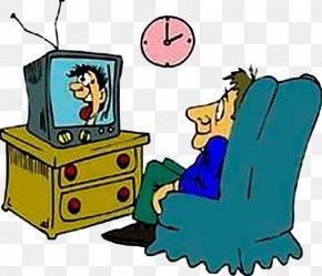 Men Watch TV - Television Show Diagnose Clip Art PNG