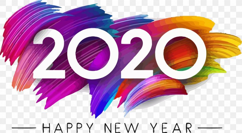 Happy New Year 2020, PNG, 3000x1647px, 2020, Happy New Year 2020, Logo, New Years 2020, Text Download Free