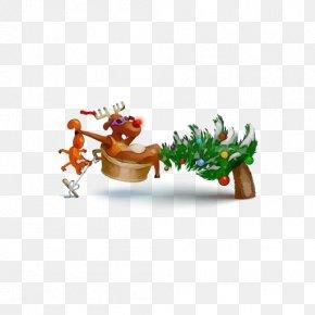 Tree Frog Animal Figure - Reindeer PNG