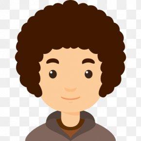 Curly Boy - Cartoon Hair Boy PNG