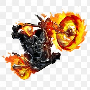 Ghost Rider Bike File - Marvel Heroes 2016 Ghost Rider Black Panther Johnny Blaze Clint Barton PNG