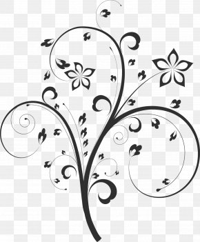 Shades - Floral Design Flower Black And White Monochrome Painting Drawing PNG