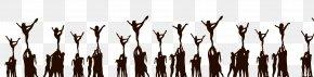 Cheer Stunt Cliparts - Cheerleading Stunt Basket Toss Clip Art PNG