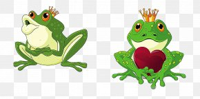 Cartoon Frog Couple - The Frog Prince Royalty-free Clip Art PNG
