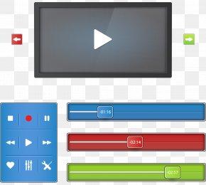 Vector Web Design - Web Design Video Player Web Page PNG