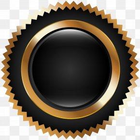 Seal Badge Black Gold Clip Art - Seal Clip Art PNG
