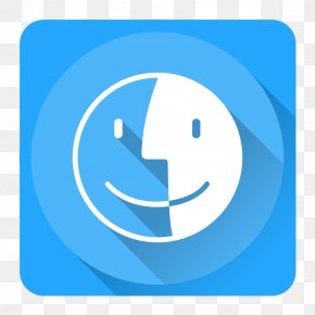 Finder - Blue Computer Icon Text Symbol PNG