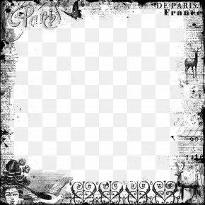 Vintage Frame Transparent Background - Picture Frame Digital Scrapbooking Clip Art PNG