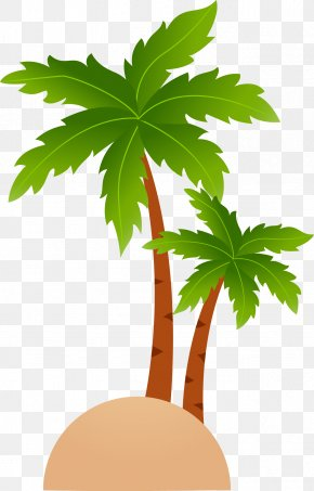 Fresh Coconut Tree Vector - Tropical Islands Resort Cartoon Clip Art PNG