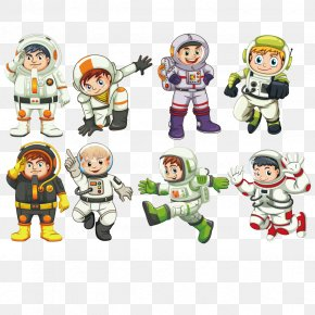 Vector Child Astronaut - Astronaut Outer Space Illustration PNG