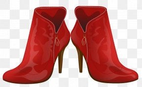 Red Boots - High-heeled Footwear Boot Shoe PNG