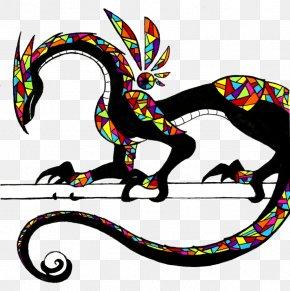 Dragon - Color Wheel Drawing Dragon PNG