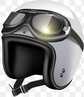 Helmet And Glasses - Motorcycle Helmet Illustration PNG