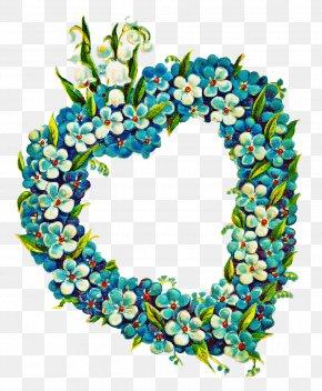 Wreath Digital Data - Flower Wreath Frame PNG
