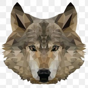 Low Poly - Gray Wolf T-shirt Low Poly PNG