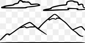 Mountain Clipart Black And White - Black And White Drawing Clip Art PNG