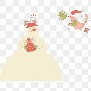 Christmas Snowman Wearing A Hat - Christmas Card Greeting Card Gift Christmas And Holiday Season PNG