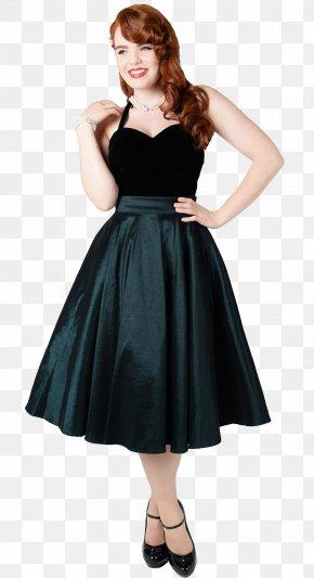 Swing Skirt - Little Black Dress Skirt Clothing Formal Wear PNG