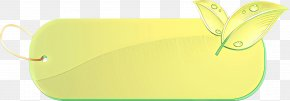 Rectangle Paper Product - Green Yellow Leaf Line Paper PNG