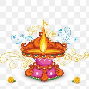 Indian Oil Lamp - Light Oil Lamp Diwali PNG