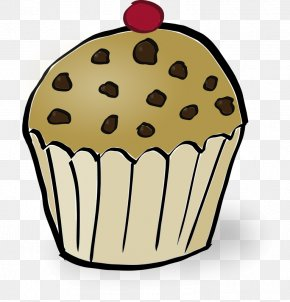 Breakfast - Muffin Cupcake Chocolate Chip Clip Art PNG