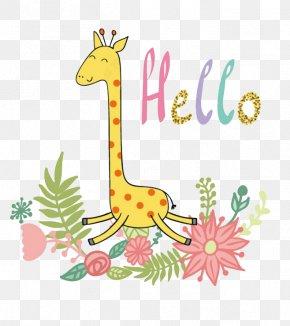 Cartoon Giraffe - Giraffe Cartoon Cuteness PNG
