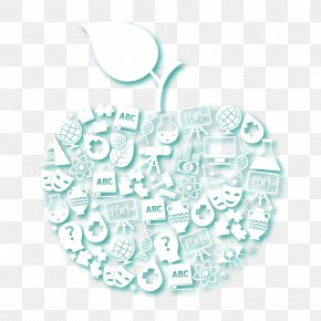 Vector Apple Background For Science And Education - Organism Pattern PNG