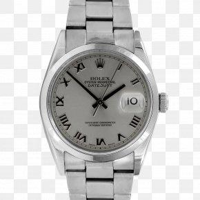 Metal Bezel - Rolex Datejust Watch Silver Metal PNG