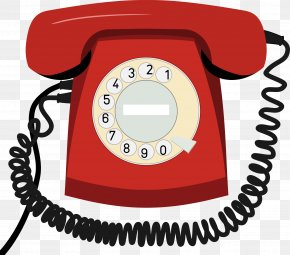 Red Phone - Telephone Landline Ringtone Clip Art PNG