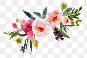 Painting - Watercolour Flowers Watercolor Painting Floral Design Clip Art PNG