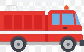 Cartoon Fire Engine - Motor Vehicle Fire Engine Firefighter Conflagration Cartoon PNG