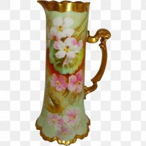 Hand-painted Flower Pot - Jug Vase Porcelain Pitcher Mug PNG