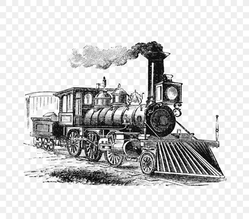Train Rail Transport Steam Locomotive Drawing, PNG ...