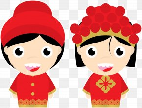 Chinese Bride And Groom - Wedding Invitation Marriage Euclidean Vector PNG