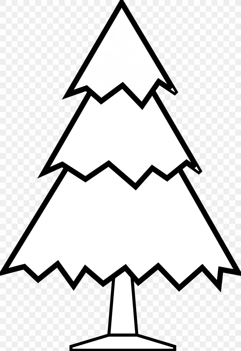 Christmas Tree Black And White Clip Art, PNG, 1331x1935px ...