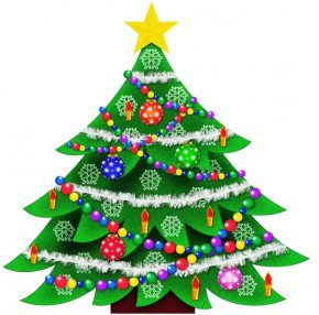 Christmas Clip Art - Christmas Tree Santa Claus Clip Art PNG