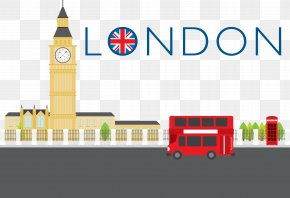 London Style Vector - London Cartoon Illustration PNG