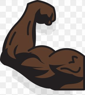 Strong Black Arm Icon - Arm Icon PNG