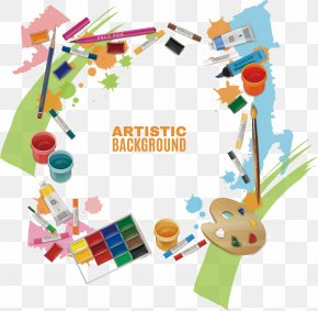 The Right Amount Of Drawing Tools - Painting Photography Easel Art PNG