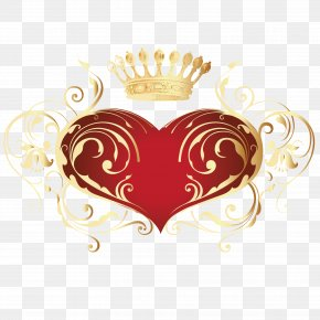 I Love Red And Gold Crown PNG