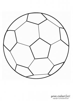 Soccer Ball Outline - Coloring Book Football Nike Kick PNG