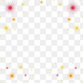 Fireworks Border - Picture Frame Fireworks Molding PNG