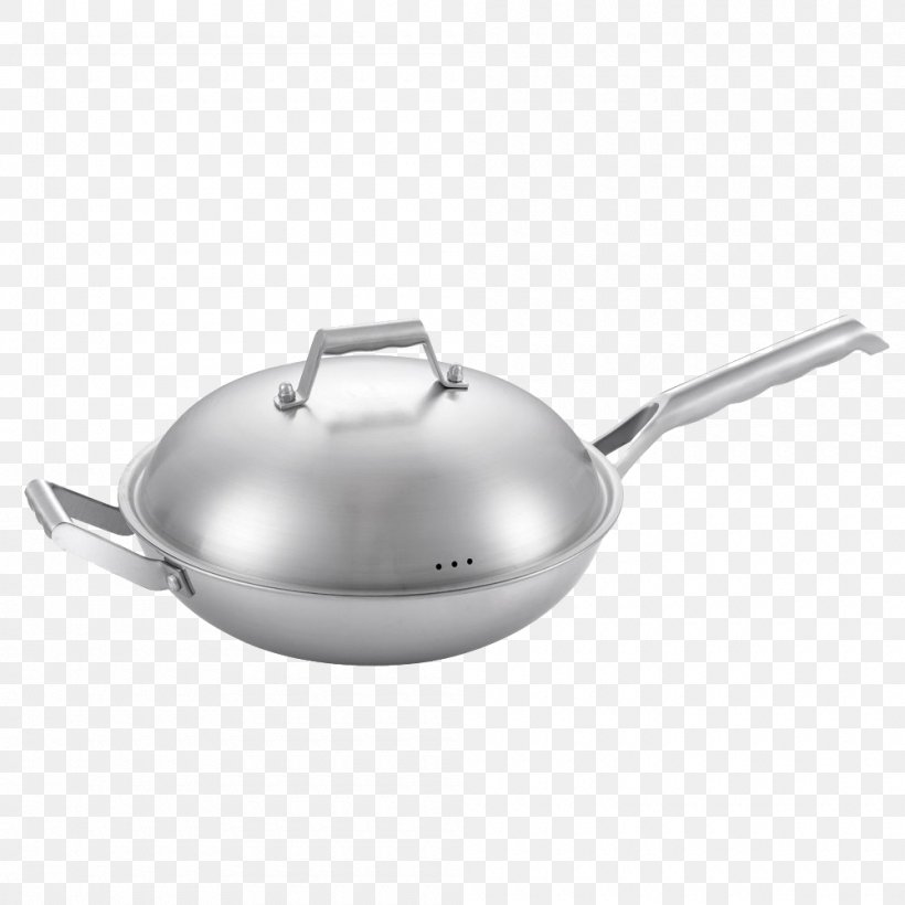 Wok Cookware And Bakeware Frying Pan Non-stick Surface Stainless Steel, PNG, 1000x1000px, Wok, Cast Iron, Castiron Cookware, Cook, Cookware And Bakeware Download Free