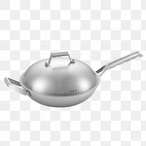 Wok Kitchen - Wok Cookware And Bakeware Frying Pan Non-stick Surface Stainless Steel PNG