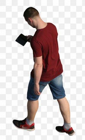 Top View - Walking T-shirt PNG